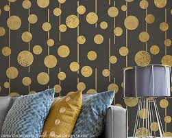 uzma circles wall stencil by royal design studio paint pattern