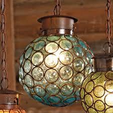 Southwest Glass Sphere Pendant Light Large