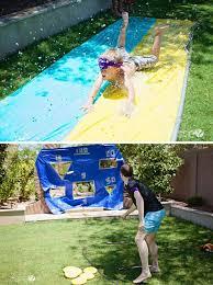 Homemade outdoor games for kids Kindergarten Slide And Toss Diy Outdoor Family Games Backyard Games For Kids Diy Projects 15 Diy Outdoor Family Games Family Games Diy Projects