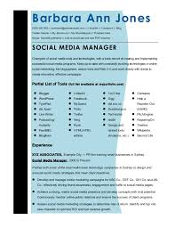 Social Media Resume Example Cmmaao Pmi Resume Template Social Media Manager
