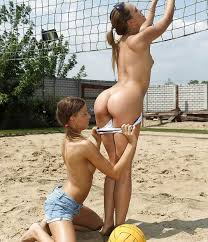 Beach volleyball nude lesbians
