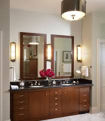 bathroom mirrors and lighting ideas. Traditional Bathroom Vanity Design In Rich Color Mirrors And Lighting Ideas R