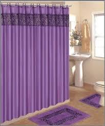 matching shower curtain and towels luxury 4 piece bath rug set 3 piece purple zebra bathroom