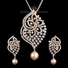 aranya diamond pendant set goldjewellerybling