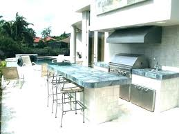 cinder block outdoor kitchen concrete