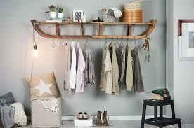 Creative Coat Rack creative DIY coat rack made out of wooden sleds interior design 5