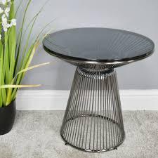 glasetal round chrome side table