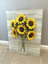 sunflower wall art a rustic pallet sign with wire and faux sunflowers is ideal for decor sunflower wall art