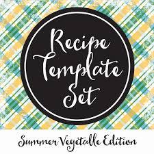 Recipe Labels Templates Recipe Template Set Labels