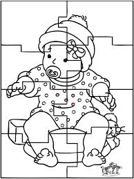 Baby Puzzel 1 Kleurplaten Baby