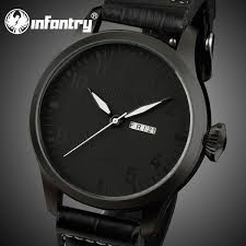 infantry army all black fashion leather men s date quartz wrist infantry army all black fashion leather men s date quartz wrist watch buy fashion leather watch all black fashion watch leather men s date watch product