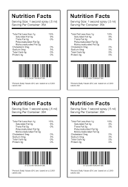 Ingredients Label Template Best Nutrition Facts Label Maker With Free Food Label Template