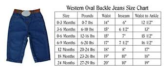 0 3 Months Size Chart Western Oval Buckle Jeans For Infant Baby Toddler 0 3 Months