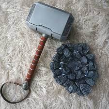 Thor Hammer Led Light Full Metal 1 1 Avengers Thor Hammer Replica Prop Mjolnir Led