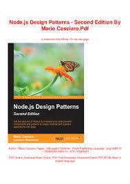 Node Js Design Patterns Second Edition Pdf Download Node Js Design Patterns Second Edition By Mario Casciaro Pdf