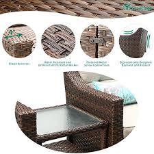 yitahome 5 piece wicker patio furniture