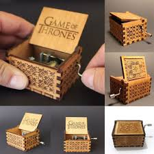 Engraved Wooden Music Box Game Of Thrones Game of ThronesEngraved Wooden Music Box interesting Kid Toys 16