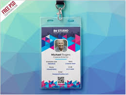 Identity Card Design 25 Top Vertical Id Card Templates Designs Psd Ai Eps