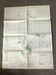 1955 U S Air Force Aeronautical Chart Or Map Of Southeast