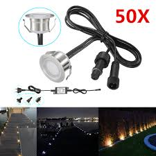 12v Led Patio Lights Us 269 99 50pcs Outdoor Stair Step Decking Underground Paver Led Light Garden Yard Patio Lighting Spot Waterproof Stainless Steel 12v On Aliexpress