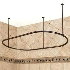 heavy duty shower curtain rod surround a freestanding tub with this oval which canada freest circular shower curtain
