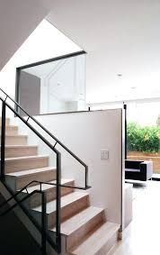 contemporary crown molding modern half wall staircase with minimal white baseboard ideas memphis