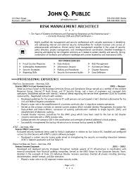 Risk Management Resume - Outathyme.com