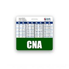 Cna Badge Buddy Horizontal W/ Height & Weight Conversion Charts ...