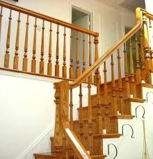 wood stair railing kits indoor designs railings wooden outdoor exterior ideas rail