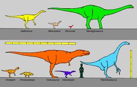 Dinosaur Sizes Comparison Chart File Mongolian Campanian Dinosaurs 8426 Jpg Wikimedia Commons