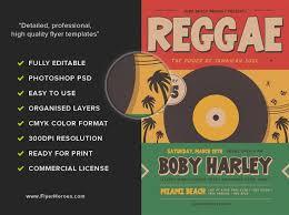 Retro Reggae Music Party Flyer Template - Flyerheroes
