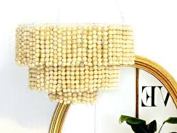 diy beaded chandelier tutorial wooden bead chandelier within wood plan chandelier s with capo diy beaded chandelier