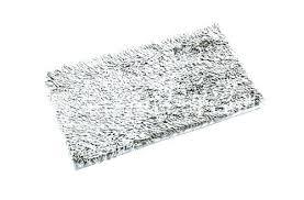 large silver bath rug