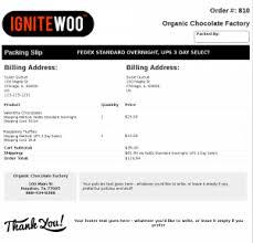 Sample Packing Slip Form Woocommerce Pdf Invoices Packing Slips Pro