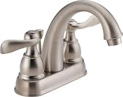 delta bathroom faucets brushed nickel. Delta Windemere B2596LF-SS Two Handle Centerset Bathroom Faucet, Stainless - Touch On Sink Faucets Amazon.com Brushed Nickel T