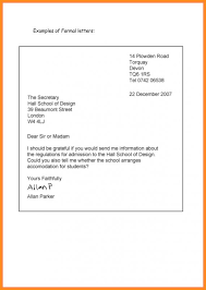 Formal Letter Latest Format Writing A Formal Letter Template Business