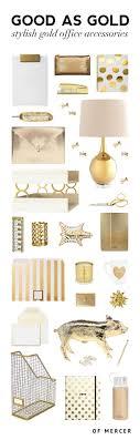gold desk accessories of mercer blog detailed image