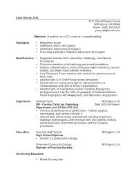 Cath Lab Nurse Resume Sample