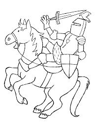 Kleurplaten Paradijs Kleurplaat Een Ridder Te Paard
