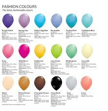 Qualatex Balloons Color Chart Colour Chart
