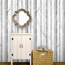 Small Picture Birch Tree Peel Stick Fabric Wallpaper Repositionable Simple