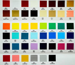 Lettering Enamel Colour Chart Prices Exclude Gst