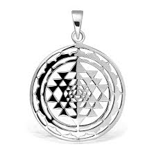 official spring withlovesilver sterling silver sri yantra sri chakra sacred geometry talisman pendant 95645