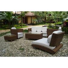 White and Brown All Weather Wicker Patio Furniture – Outdoor