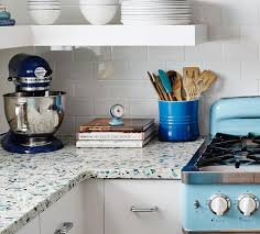 made primarily of recycled post industrial and post consumer materials recycled glass countertops offer a very hard surface that is not unlike stone