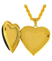 memoir golden heart shaped openable pendant jewellery for women