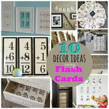 Flash Card Design Ideas 10 Decor Ideas Using Flash Cards Vintage Scrap Shop