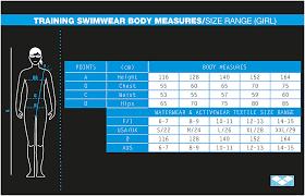 junior size arena junior girl swimwear size chart