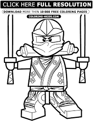 Awesome Green Ninja Coloring Pages For