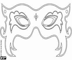 Kleurplaat Prachtige Carnaval Masker Kleurplaten